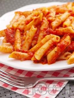 Пене Арабиата с домати и люти чушки - снимка на рецептата